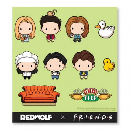 Friends: Chibi - Friends Official Sticker Sheet