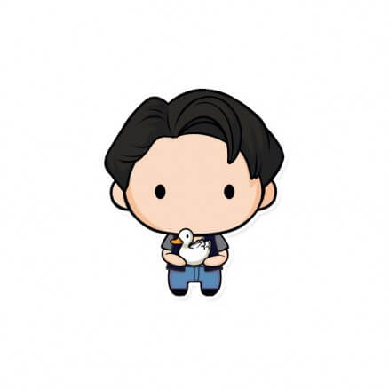 Joey Chibi - Friends Official Sticker