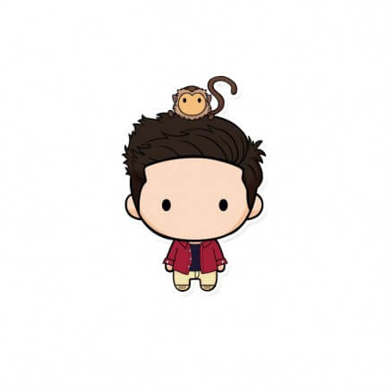 Ross Chibi - Friends Official Sticker