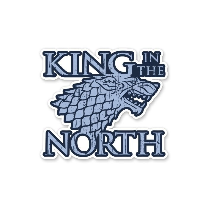 King In The North - Game Of Thrones Official Sticker