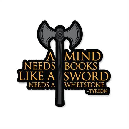 A Mind Needs Books - Game Of Thrones Official Sticker