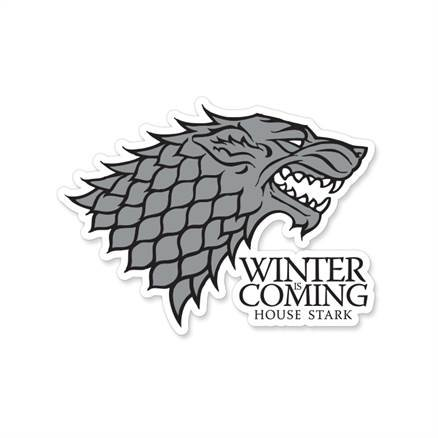 Winter Is Coming - Game Of Thrones Official Sticker