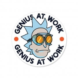 Genius At Work - Rick And Morty Official Sticker
