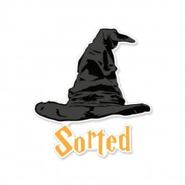 Sorted - Harry Potter Official Sticker