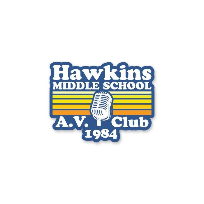 Hawkins A.V. Club - Sticker