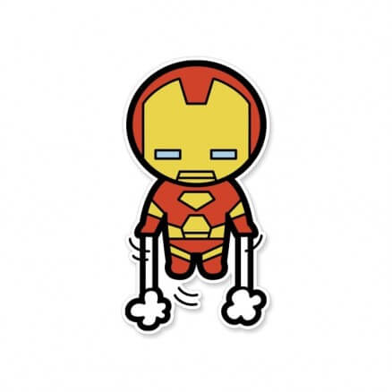 Iron Man Chibi - Marvel Official Sticker