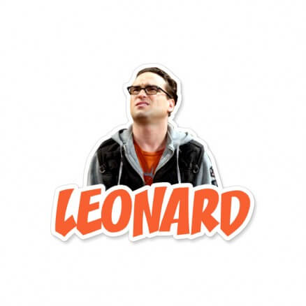Leonard - The Big Bang Theory Official Sticker