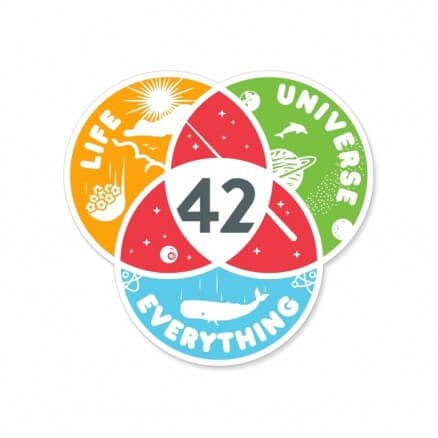 Life, The Universe And Everything - Sticker