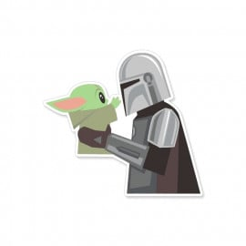 Mando And The Child - Star Wars Official Sticker