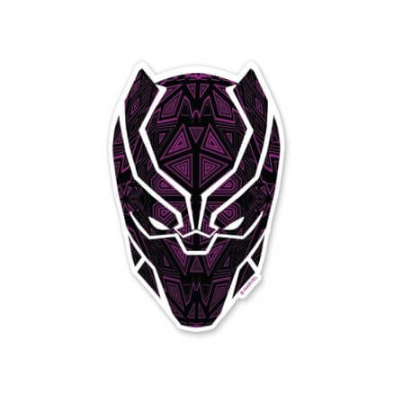 Black Panther Mask - Marvel Official Sticker