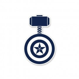 Hammer And Shield - Marvel Official Sticker