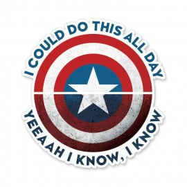 I Can Do This All Day - Marvel Official Sticker