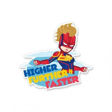 Captain Marvel: Higher Further Faster - Marvel Official Sticker