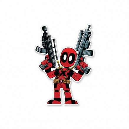 Kawaii Deadpool - Deadpool Official Sticker