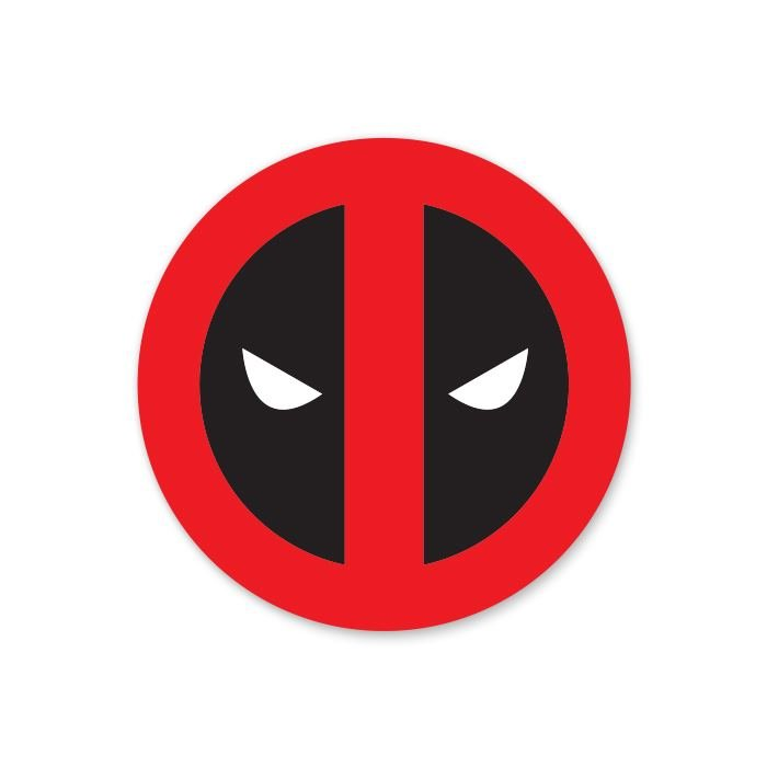 Deadpool Mask - Deadpool Official Sticker