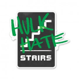 Hulk Hate Stairs - Marvel Official Sticker