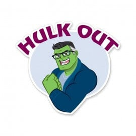 Hulk Out - Marvel Official Sticker