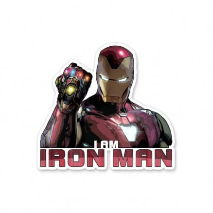 I Am Iron Man - Marvel Official Sticker