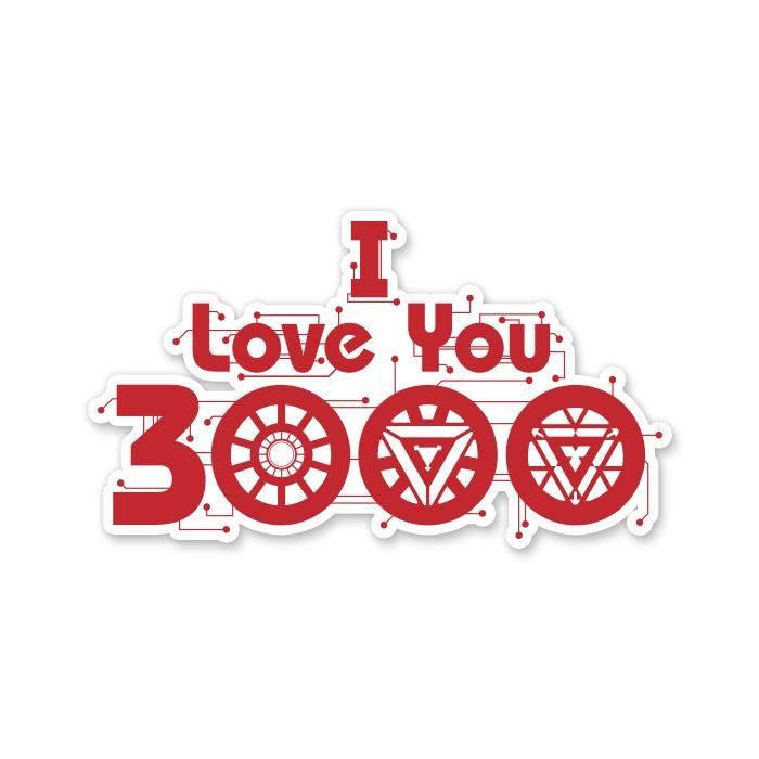 I Love You 3000 - Marvel Official Sticker