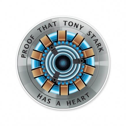 Tony Stark's Heart - Marvel Official Sticker