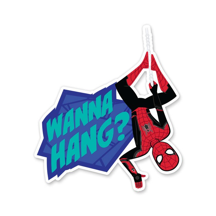 Wanna Hang - Marvel Official Sticker