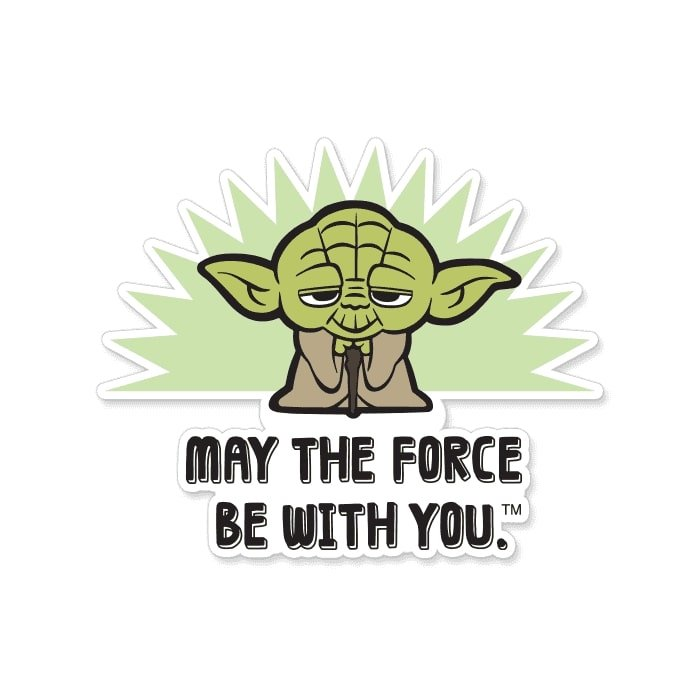 May The Force Be With You - Star Wars Official Sticker