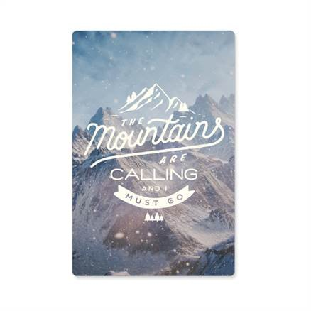Mountains Are Calling - Sticker