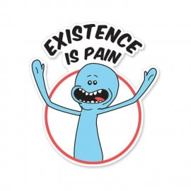 Mr Meeseeks: Existence Is Pain  - Rick And Morty Official Sticker
