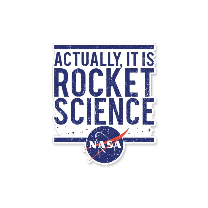 Rocket Science - NASA Official Sticker