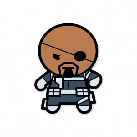 Nick Fury Chibi - Marvel Official Sticker