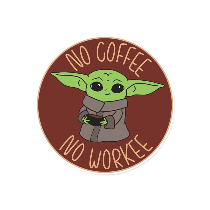 No Coffee No Workee - Official Star Wars Sticker