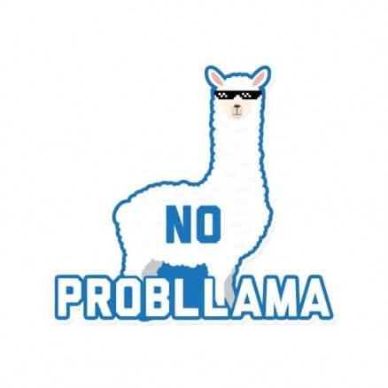 No Probllama - Sticker
