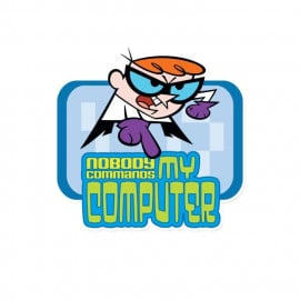 Nobody Commands My Computer - Dexter's Laboratory Official Sticker
