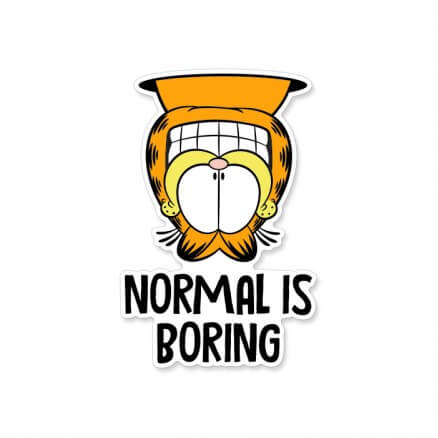 Normal Is Boring - Garfield Official Sticker