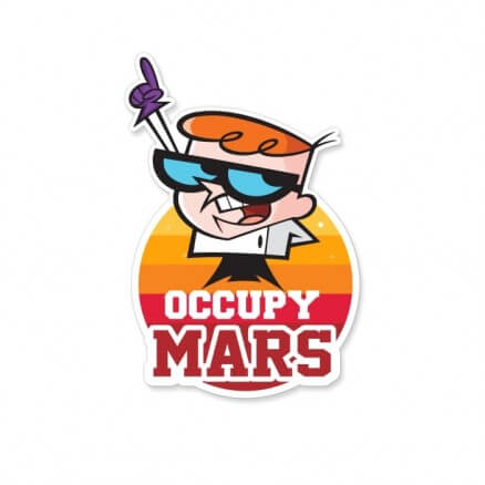 Occupy Mars - Dexter's Laboratory Official Sticker