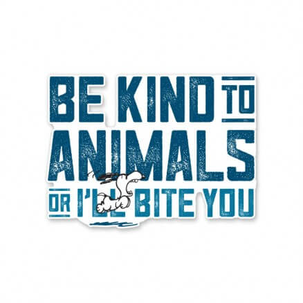 Be Kind To Animals - Peanuts Official Sticker