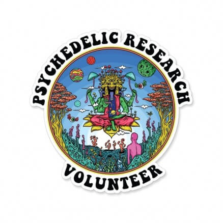 Psychedelic Research Volunteer - Sticker