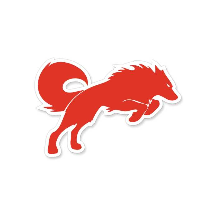 Redwolf Logo - Sticker