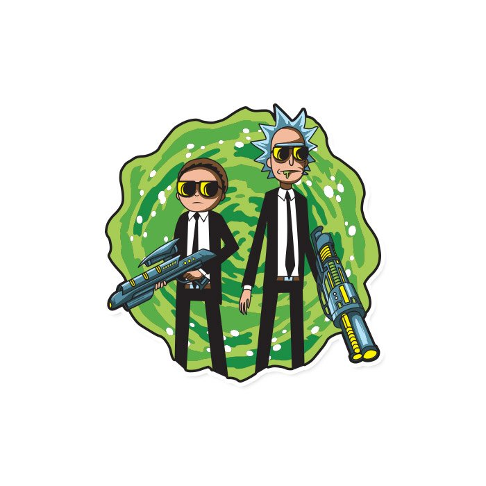Black Suits Comin' - Rick and Morty Official Sticker