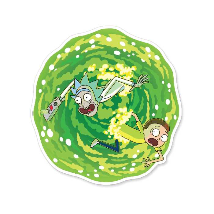 Coming Through - Rick And Morty Official Sticker