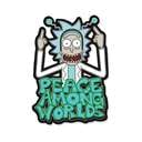 Peace Among Worlds - Rick And Morty Official Sticker