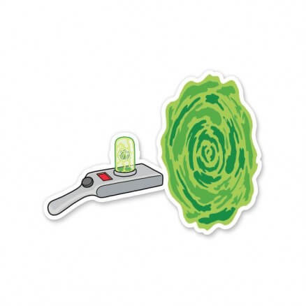 Portal Gun- Rick And Morty Official Sticker