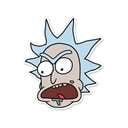 Rick Head - Rick And Morty Official Sticker