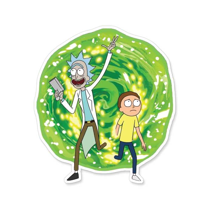Ricksy Business - Rick And Morty Official Sticker