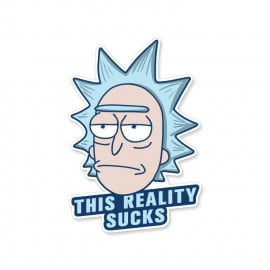 This Reality Sucks - Rick And Morty Official Sticker