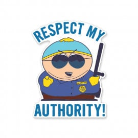 Respect My Authority - South Park Official Sticker