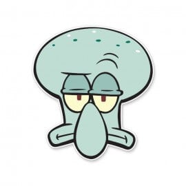 Squidward: Face - Spongebob Squarepants Official Sticker