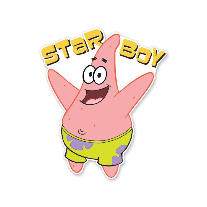 Star Boy - Spongebob Squarepants Official Sticker