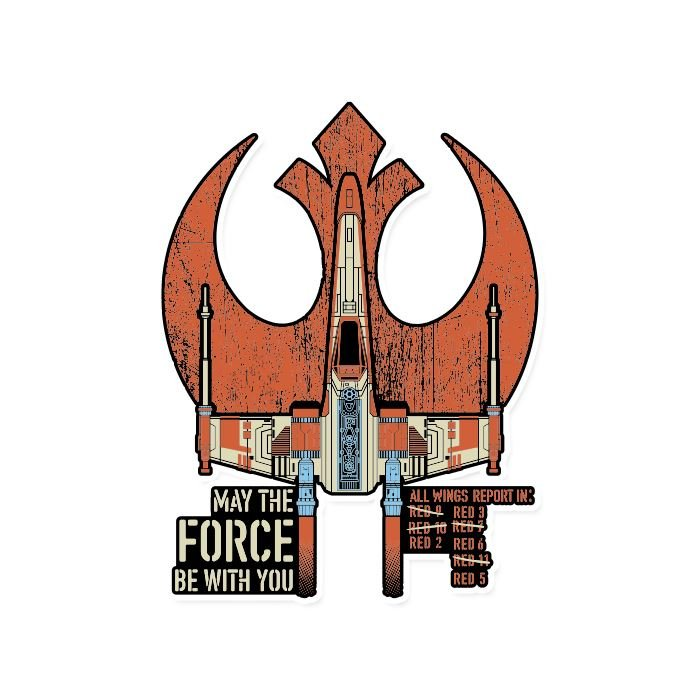 The X-Wing Starfighter - Star Wars Official Sticker