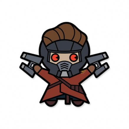 Starlord Chibi - Marvel Official Sticker